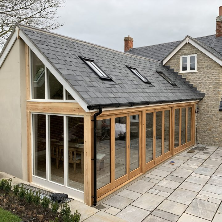 Completed rear extension – Burton Bradstock