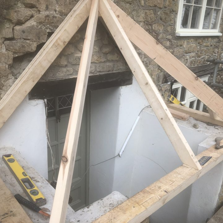 Formation of porch roof – Mosterton