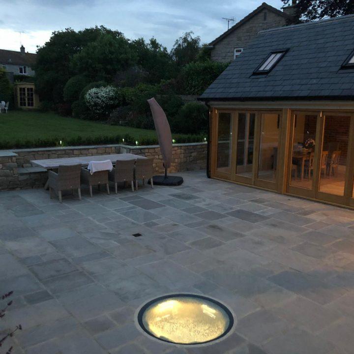 Lit glass topped well – Burton Bradstock