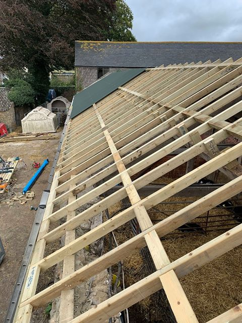 New shed roof – North Bowood