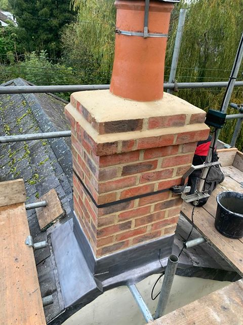Re-built chimney – Netherbury