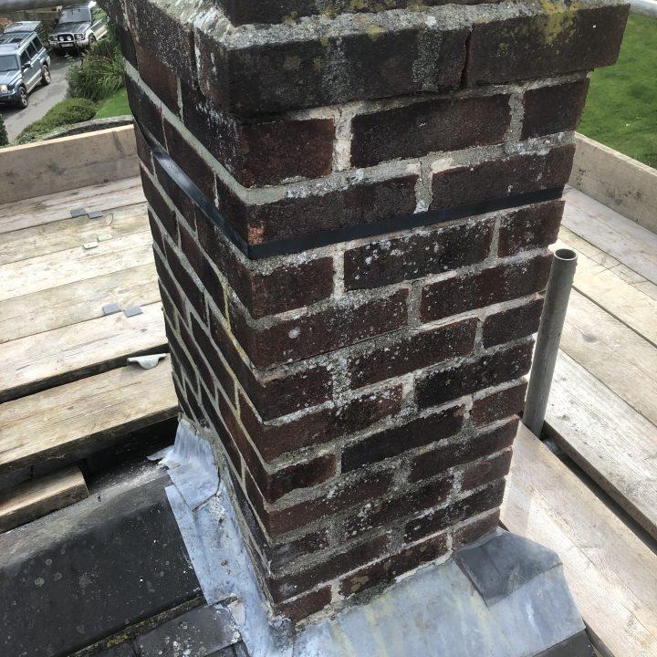 Pre-repair chimney – Netherbury